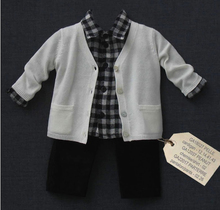 Pelle Ivory cashemere cardigan with two little pockets