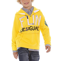 Majada - Bright yellow hoodie with bold lettering - Tribu