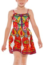 Albiense - Sundress in rich bright colours and patterns - Flower life