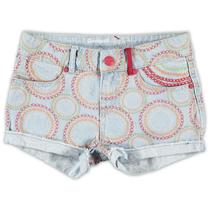 Baritono - Pale blue denim shorts - Galactic