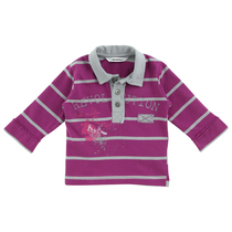 Long sleeved Stripped Polo Shirt Cassis - American Boy