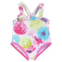 Floral swirl swimsuit