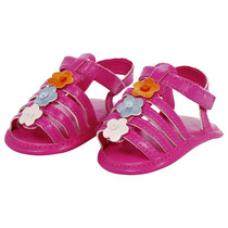 Cerise Pink floral baby sandals - Beach