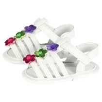 White floral baby sandals - Beach