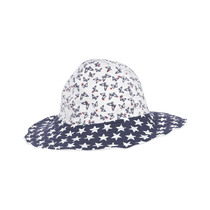White and Navy blue star and butterfly hat - Basic