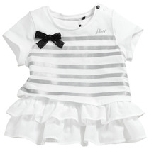 White 2 piece vest and t-shirt with big Ink bow - City Black