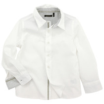 White formal shirt with grey details