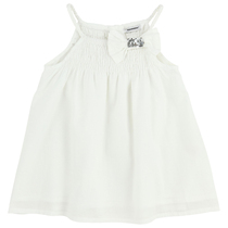 White sleeveless Top with silver bow detail - My Idol a'la folie