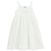 White Chiffon Rosebud Dress - My Idol a' la folie