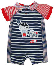 Marine blue pirate cat romper - Urban