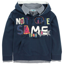 Amadina - Navy hoodie with bright graphic lettering