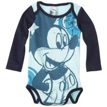 Dis - Long sleeved Mickey Mouse romper in navy blue