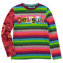 Abellan - Multi stripped and coloured long sleeve Tshirt