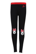 Pech Black leggings with an image of Minnie mouse