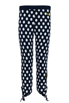 Trems midnight blue and grey polka dot leggings