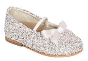 Ballerina glitter shoes in silver
