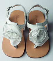 White and silver flower sandal
