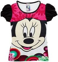 Me Minnie mouse short sleeve Tshirt in pink, white and black