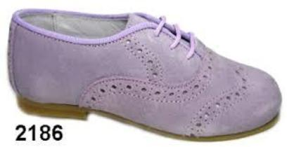 Lilac lace up shoes