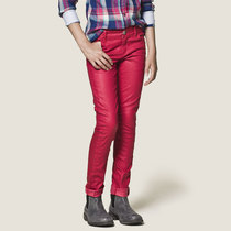 Red skinny denims