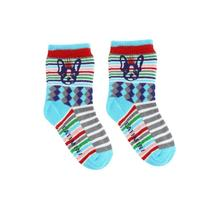 Turquoise blue striped socks - Urban
