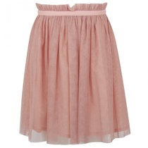 Baby pink with silver sparkle skirt