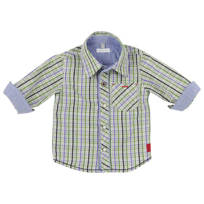 Blue and green long sleeved checked shirt - Baroud Colour