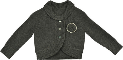 Gray Rose Cardigan - Moderne Sailor