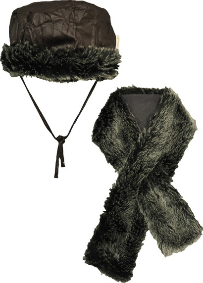 Fur Hat and Scarf Set - Smart Colours
