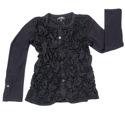 Feliciem - Black ruffled shirt - Les Robes