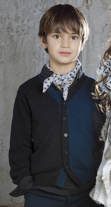 Jer - Black and Blue Knitted Cardigan