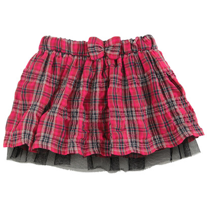 Red Checked Flair Skirt - Little Miss Sunshine