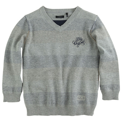 Reversible Light Grey Pullover - Mon Vestiaire