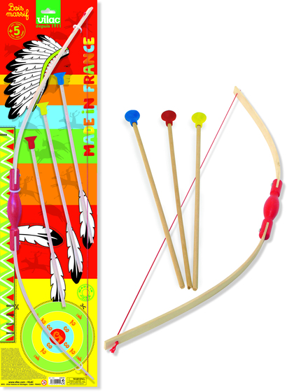 Large bow and arrows