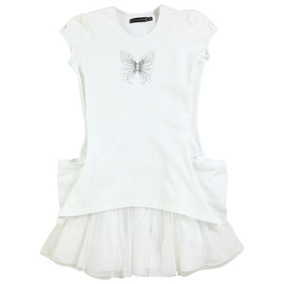 White Butterfly Tulle Dress