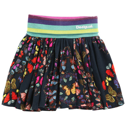 Nevado - Navy short skirt with multi coloured butterflies