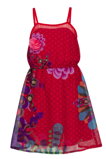 Chamico Scarlet silky sleeveless dress with floral patterns
