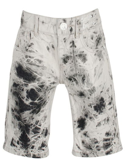 Dem grey tie dye denim bermudas