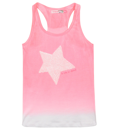 Esot neon pink sleeveless Tshirt with white sequin star