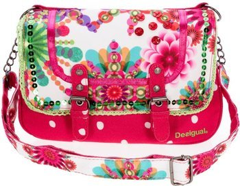Moncay bright pink and floral handbag