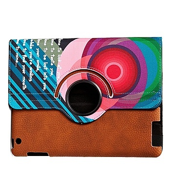 Carcasa ipad cover in bright op art design