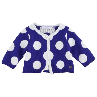 Blue & White Polka cardigan