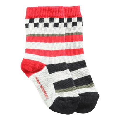 Red and grey socks