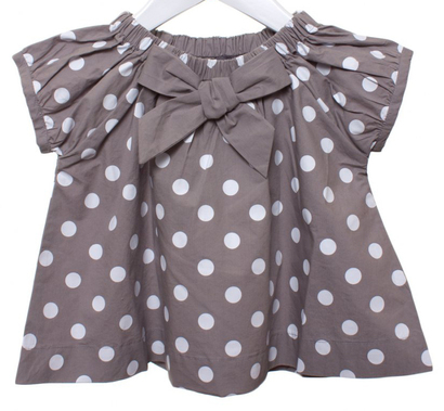 Papou outfit Light Grey Polka dot tunic with grey trousers