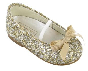 Ballerina glitter shoes in gold